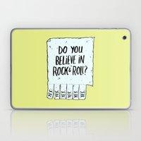 Believe in Rock & Roll Laptop & iPad Skin