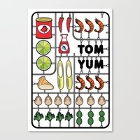 Tom Yum Assembly Kit Canvas Print