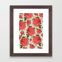 A Splash Of Peony, A Das… Framed Art Print