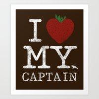 I Love My Captain Art Print