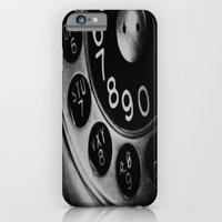 iPhone & iPod Case featuring Retro Phone by liberthine01