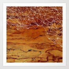 Wooden Wireframe Art Print