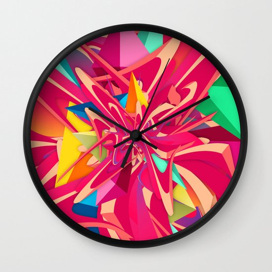 Explosion #1 Wall Clock