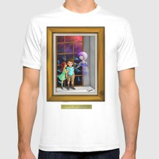 The Hands Can't Resist Him White Mens Fitted Tee SMALL