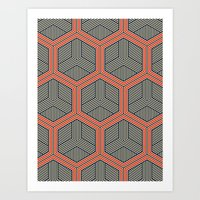 Hexagon No. 1 Art Print