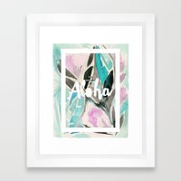 You Had Me at Aloha Floral Framed Art Print