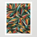 Sliced Fragments II Art Print
