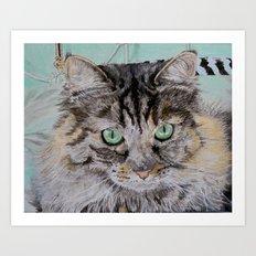 Fran the Tabby Cat Art Print