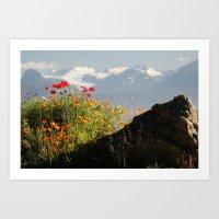 Springtime in the Mountains, Homer, Alaska Art Print
