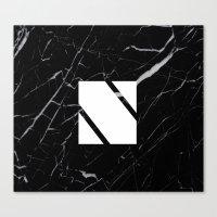 Black Marble - Alphabet N Canvas Print