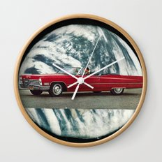red mirror... Wall Clock