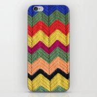 Rainbow Chevron Afghan iPhone & iPod Skin