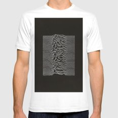 Unknown Pleasures SMALL Mens Fitted Tee White