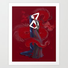 Dreaming Dragons Art Print