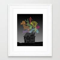 Sleep Paralysis Ball  Framed Art Print