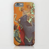 iPhone & iPod Case featuring Bullride by Miguel Co