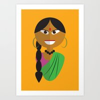 Indian Doll Art Print