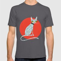 Wild House Cat Mens Fitted Tee Asphalt SMALL