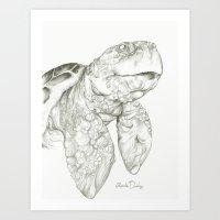 Tulisa the Turtle  Art Print