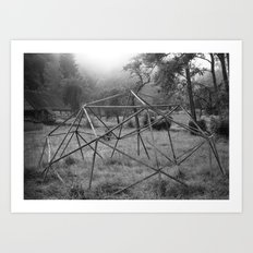 Wooden structure Art Print