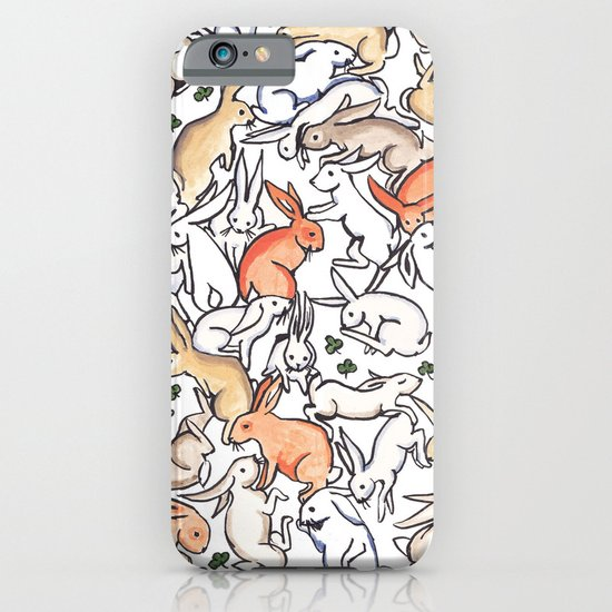 Colour Bunny Pattern iPhone & iPod Case