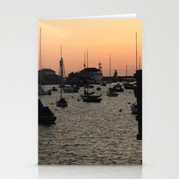 Nantucket at Sunset Stationery Cards
