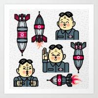 Kim Jong Un Rockets Art Print