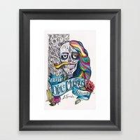 Día De Muertos ANALOG Z… Framed Art Print