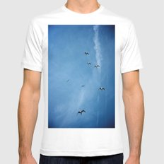 Birds of a Feather (B2) White Mens Fitted Tee SMALL