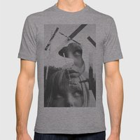She left pieces of her life Mens Fitted Tee Athletic Grey SMALL