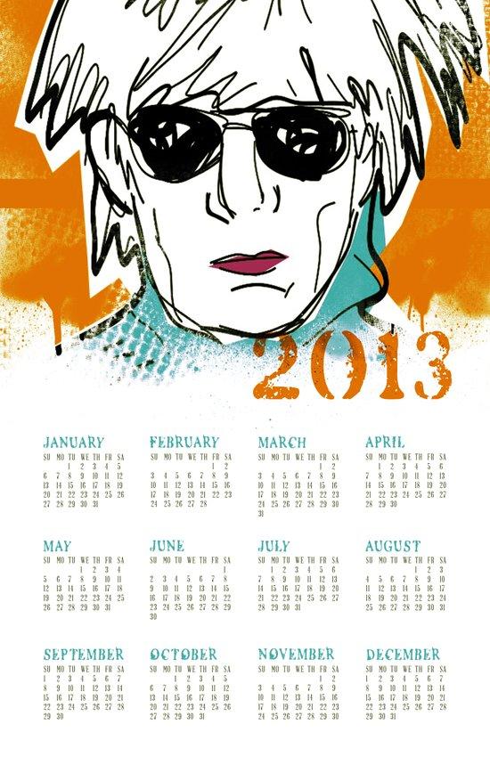 Warhol 2013 Calendar  Art Print