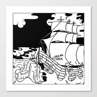 Crashing Ship Canvas Print