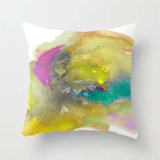 Planes in Watercolor Throw Pillow