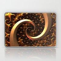 Golden Spirals Laptop & iPad Skin