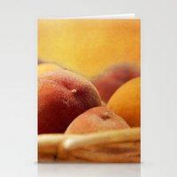 Fuzzy Peach Stationery Cards