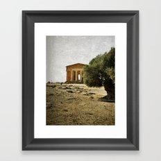 Mediterranean roots Framed Art Print