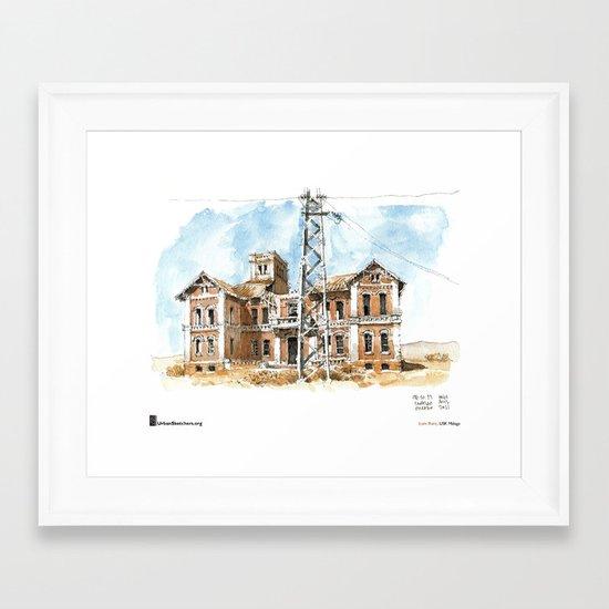 "Luis Ruiz, ""Málaga, Ruined"" Framed Art Print"