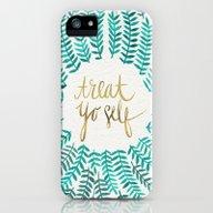Treat Yo Self – Gold &… iPhone (5, 5s) Slim Case