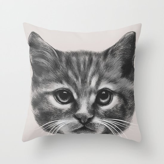 Everybody wants to be a Cat (MONOTONE) Throw Pillow