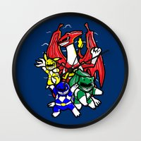 Might Morphing Poke'Rangers Wall Clock