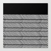 Herringbone Boarder Canvas Print