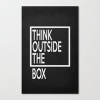 Think Outside The Box 01 Canvas Print