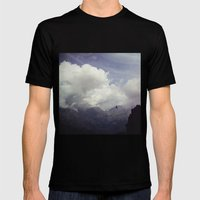 clouds over mountains Mens Fitted Tee Black SMALL