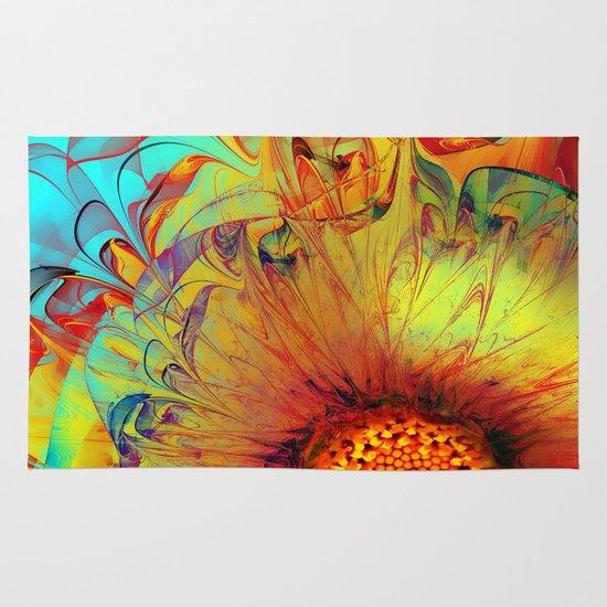 Sunflower Abstract Area & Throw Rug
