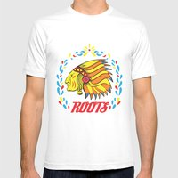 Americas Natives  Mens Fitted Tee White SMALL