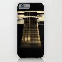 guitar iPhone & iPod Cases featuring guitar by Ingrid Beddoes