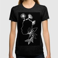 Lady of the nature I Womens Fitted Tee Tri-Black SMALL