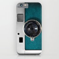 iPhone & iPod Case featuring Classic Retro Blue Teal … by Three Second