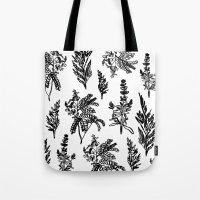 Fleur Noir Tote Bag