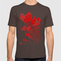 Heart - Red Mens Fitted Tee Brown SMALL